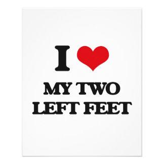 Amo mis dos pies izquierdos folleto 11,4 x 14,2 cm