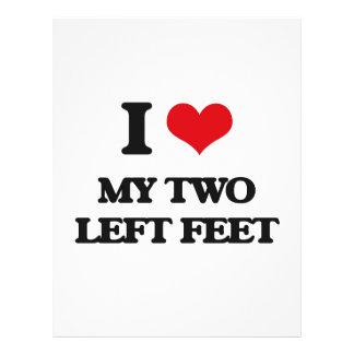 Amo mis dos pies izquierdos folleto 21,6 x 28 cm