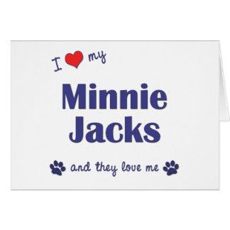 Amo mis enchufes de Minnie los perros múltiples Tarjetón