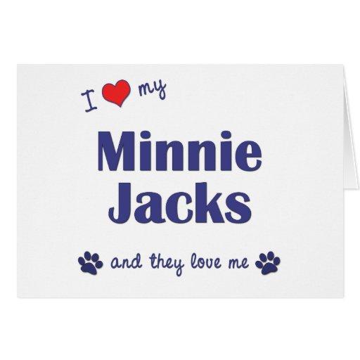 Amo mis enchufes de Minnie (los perros múltiples) Tarjetón