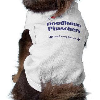 Amo mis Pinschers de Doodleman los perros múltipl Camiseta De Mascota