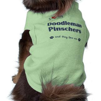 Amo mis Pinschers de Doodleman (los perros múltipl Camiseta De Mascota