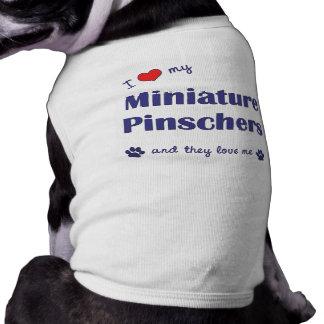Amo mis Pinschers miniatura los perros múltiples Camisetas De Perrito