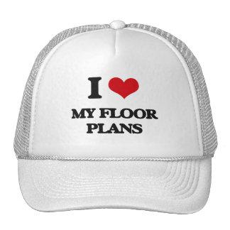 Amo mis planes de piso gorros