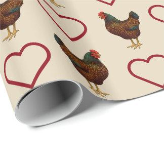 Amo mis pollos de Barnevelder Papel De Regalo