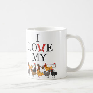 Amo mis pollos taza de café
