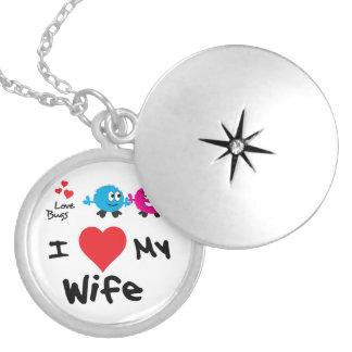 Amo mis regalos de la esposa para los hombres pendiente
