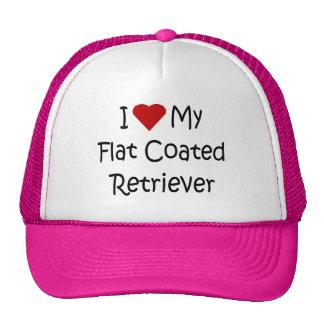Amo mis regalos revestidos planos del amante del p gorras de camionero