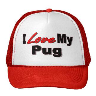 Amo mis regalos y ropa del perro del barro amasado gorras