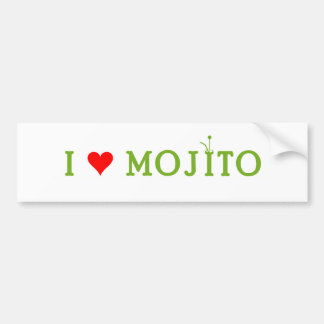 Amo Mojito Etiqueta De Parachoque