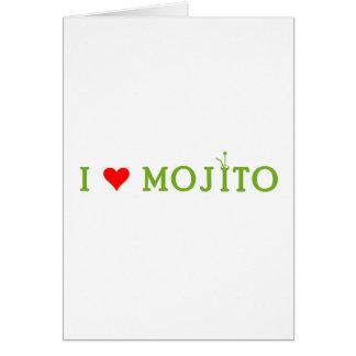 Amo Mojito Tarjeta De Felicitación