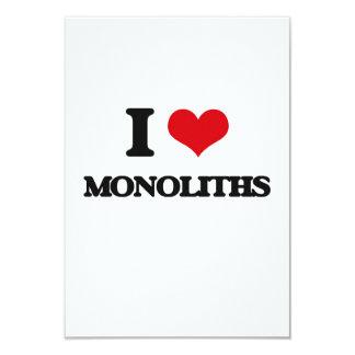 Amo monolitos invitación 8,9 x 12,7 cm
