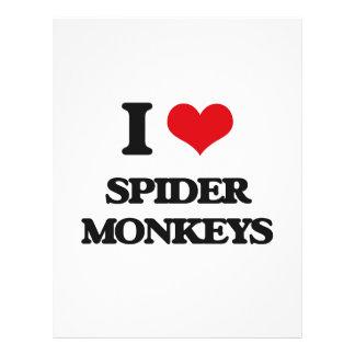 Amo monos de araña tarjetas publicitarias