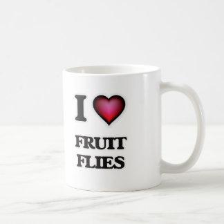 Amo moscas del vinagre taza de café