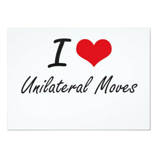 Amo movimientos unilaterales invitación 12,7 x 17,8 cm