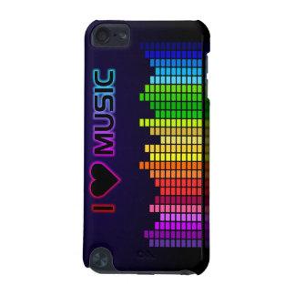 Amo música con el caso del tacto de Equilizer iPod
