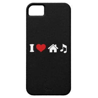 Amo música de la casa iPhone 5 carcasa
