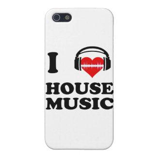 Amo música de la casa iPhone 5 protectores