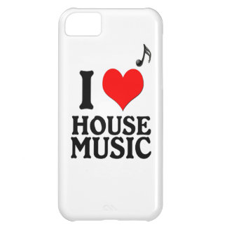 Amo música de la casa funda para iPhone 5C