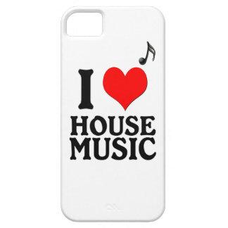Amo música de la casa iPhone 5 Case-Mate cárcasa