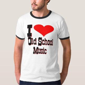Amo música de la escuela vieja camiseta