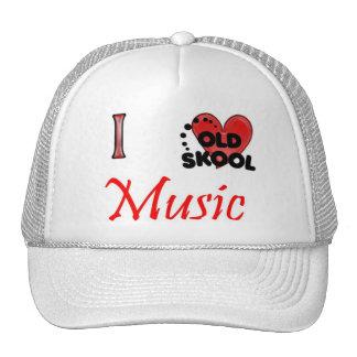 Amo música de la escuela vieja gorro