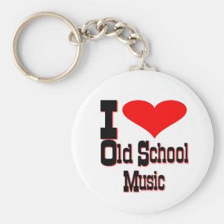 Amo música de la escuela vieja llavero redondo tipo chapa