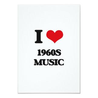 Amo MÚSICA de los años 60 Invitación 8,9 X 12,7 Cm
