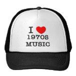 Amo música de los años 70 gorras de camionero