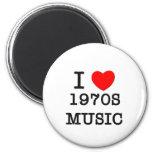 Amo música de los años 70 imán