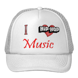 Amo música del hip-hop gorras de camionero