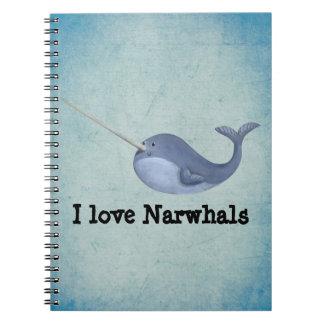 Amo Narwhals Libreta Espiral