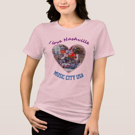 Amo Nashville -- Camiseta de las señoras