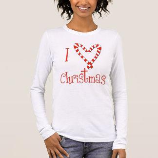Amo navidad camiseta de manga larga