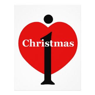 Amo navidad tarjetón