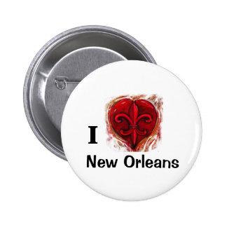 Amo New Orleans Chapa Redonda De 5 Cm