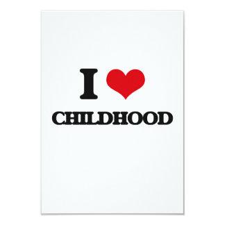 Amo niñez invitación 8,9 x 12,7 cm