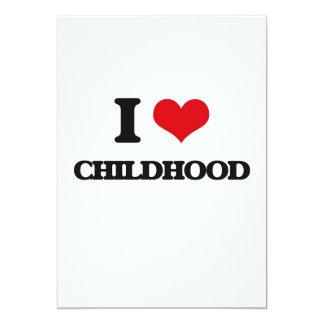 Amo niñez invitación 12,7 x 17,8 cm