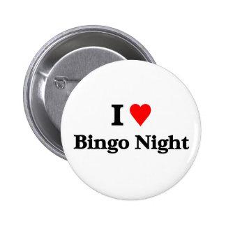 Amo noche del bingo chapa redonda de 5 cm