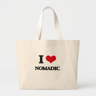 Amo nómada bolsa lienzo