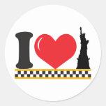 Amo Nueva York Etiquetas Redondas