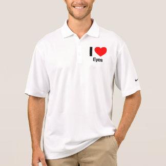 amo ojos camiseta polo