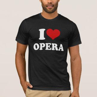 Amo ópera camiseta