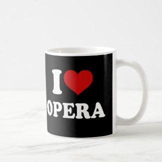 Amo ópera taza de café