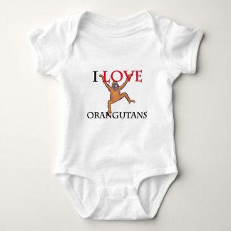 Amo orangutanes body para bebé
