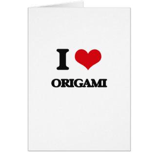 Amo Origami Felicitaciones