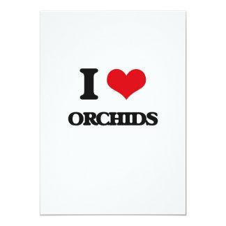 Amo orquídeas invitación 12,7 x 17,8 cm