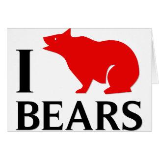 Amo osos tarjetas