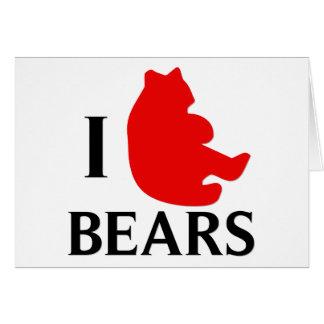 Amo osos felicitación