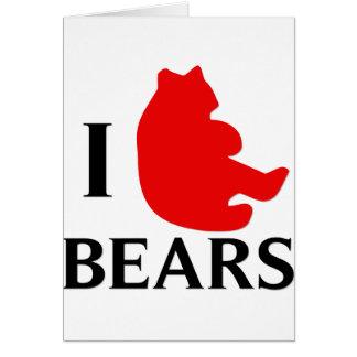 Amo osos felicitacion